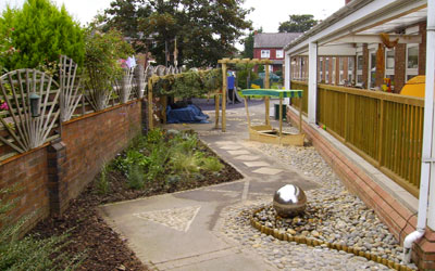 Sensory garden and play area design Cheshire